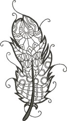 Refined Feather 2 embroidery design