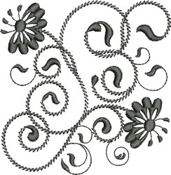 Rhapsody in Black embroidery design