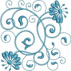 Rhapsody in Blue embroidery design