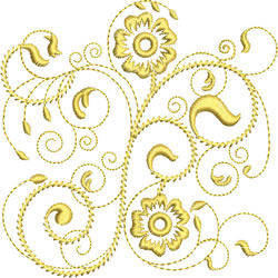 Rhapsody in Gold embroidery design