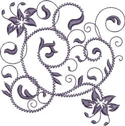 Rhapsody in Purple embroidery design