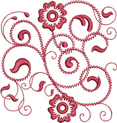 Rhapsody in Red embroidery design