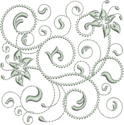Rhapsody in Silver embroidery design