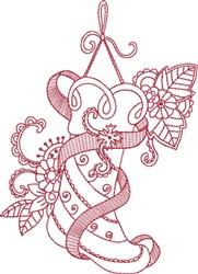 Grosgrain Ribbon Stocking embroidery design
