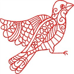 Redwork Bird embroidery design