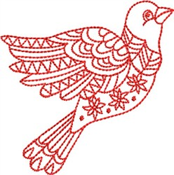 Redwork Bird embroidery design