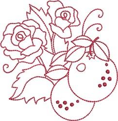 Redwork Oranges embroidery design