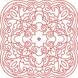 Redwork Block Pattern embroidery design