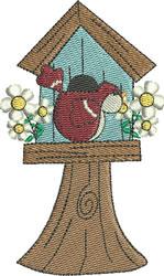 Birdies Home Birdhouse embroidery design