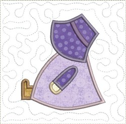 Sitting Sun Bonnet Sue embroidery design