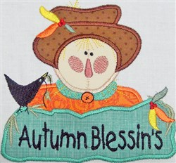 Scarecrow Applique embroidery design