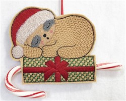 ITH Sloth Candy Cane Holder 5 embroidery design