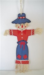 "Scarecrow Wall Hanging for 6"" x 10"" Hoop embroidery design"