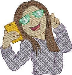 Selfie 2 embroidery design