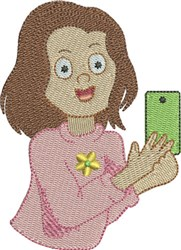 Selfie 3 embroidery design