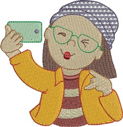 Selfie 7 embroidery design