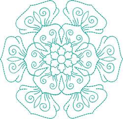 Elegant Snowflake embroidery design