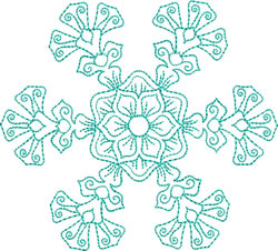 Exquisite Snowflake embroidery design
