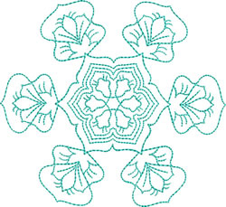 Dainty Snowflake embroidery design