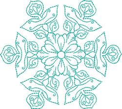 Intricate Snowflake embroidery design