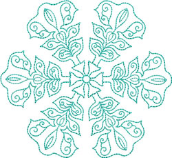 Ice Crystal Snowflake embroidery design