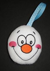 ITH Snowman Clown Faced Ornament embroidery design