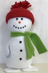 ITH Snowman Softie embroidery design