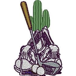 Desert Golf embroidery design