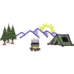 Camping Scene embroidery design