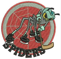 Spiders Hockey embroidery design