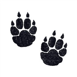 Coyote Paws embroidery design