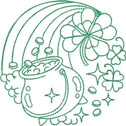 Greenwork Pot of Gold embroidery design