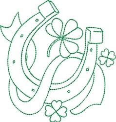 St Patricks Horseshoe embroidery design