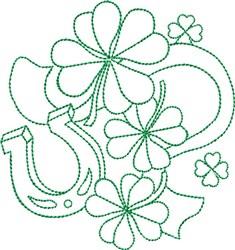 Luck Irish Grenwork embroidery design