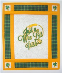 Saint Patricks Day Mini Quilt embroidery design