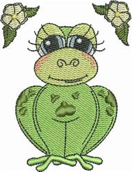 Blue-eyed Frog embroidery design