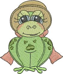Bonnet Frog embroidery design