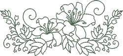 Bluework Lilies embroidery design