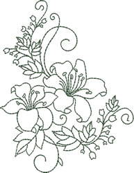 Simply Lilies embroidery design
