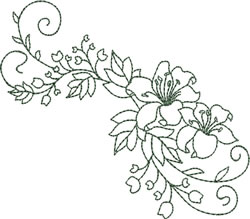 Flowing Lilies embroidery design