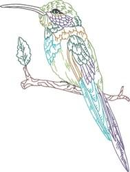 Hummingibrd On Twig embroidery design