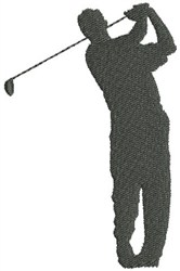 Golf Silhouette embroidery design