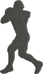 Football Silhouette embroidery design