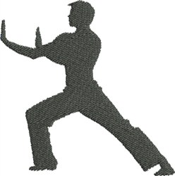 Martial Arts Silhouette embroidery design