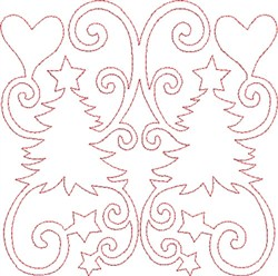Christmas Tree Quilt Block embroidery design