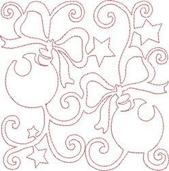 Ornaments Quilt Block embroidery design