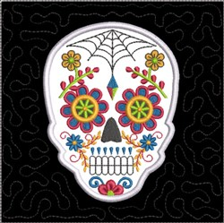 ITH Sugar Skull Quilt Block 1 embroidery design
