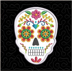 ITH Sugar Skull Quilt Block 2 embroidery design