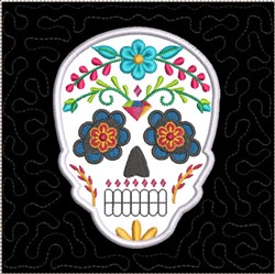 ITH Sugar Skull Quilt Block 3 embroidery design