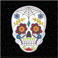 ITH Sugar Skull Quilt Block 4 embroidery design
